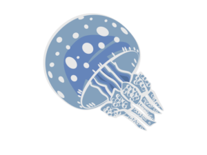 タコクラゲのイラスト