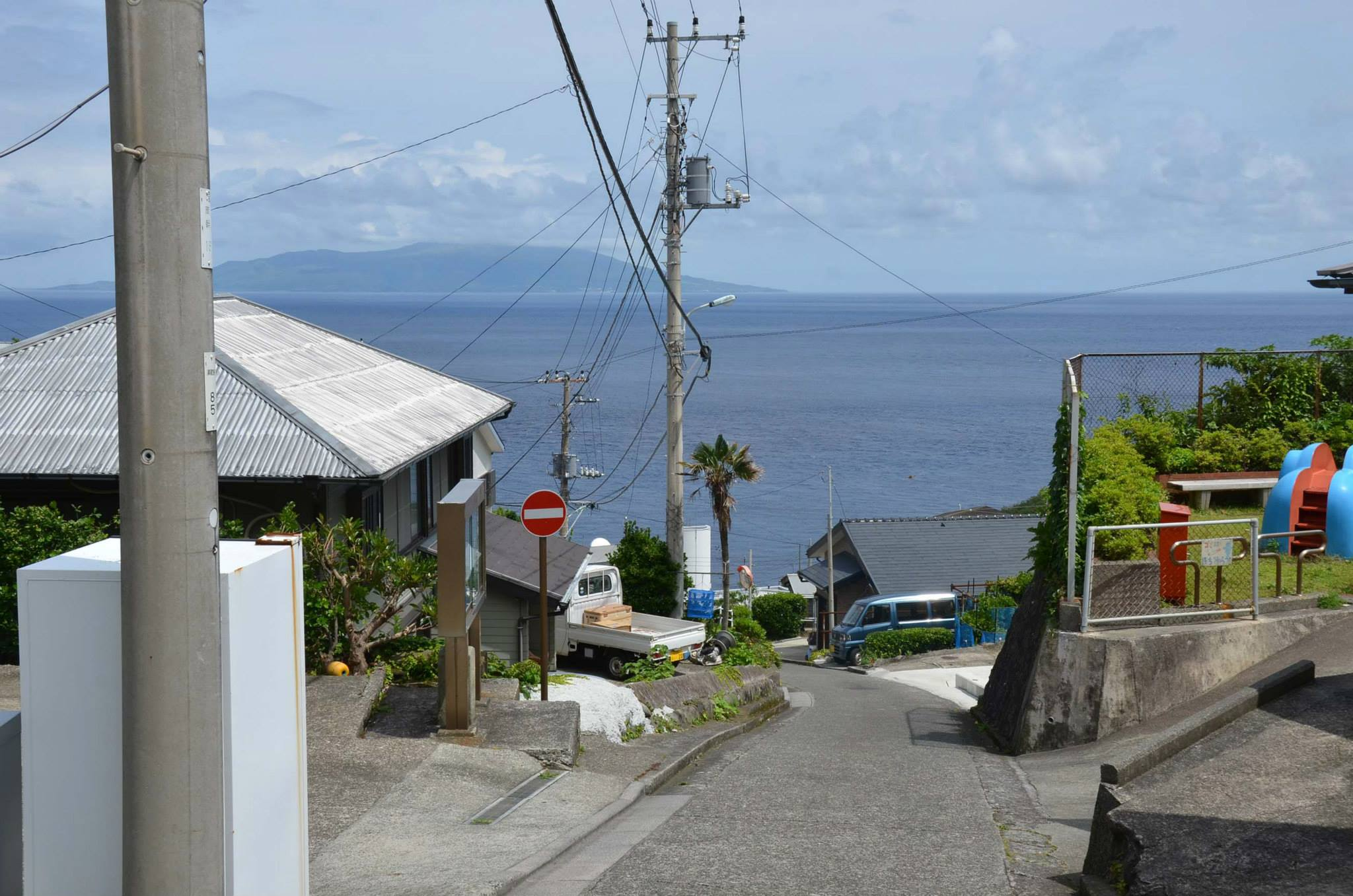 御蔵島の景色